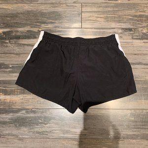 Nike Shorts - Nike Black with White Stripe Lined Running Shorts